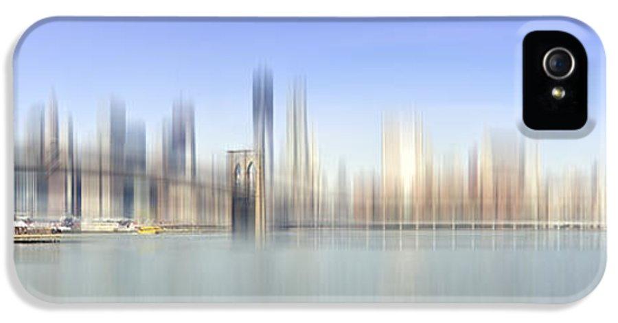 Distance IPhone 5 / 5s Case featuring the photograph City-art Manhattan Skyline I by Melanie Viola