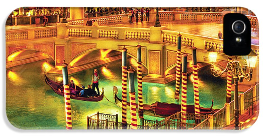 Savad IPhone 5 / 5s Case featuring the photograph City - Vegas - Venetian - The Venetian At Night by Mike Savad