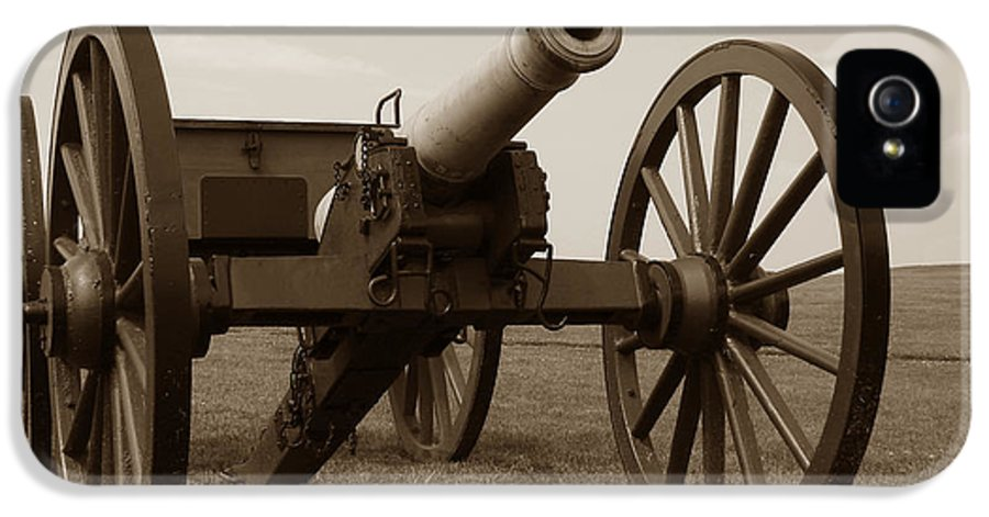 Cannon IPhone 5 / 5s Case featuring the photograph Civil War Cannon by Olivier Le Queinec