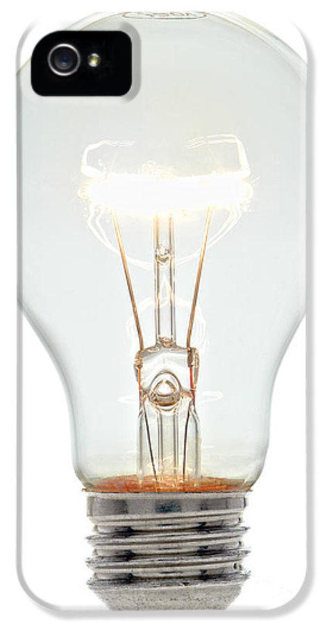 Bulb IPhone 5 / 5s Case featuring the photograph Clear Light Bulb by Olivier Le Queinec