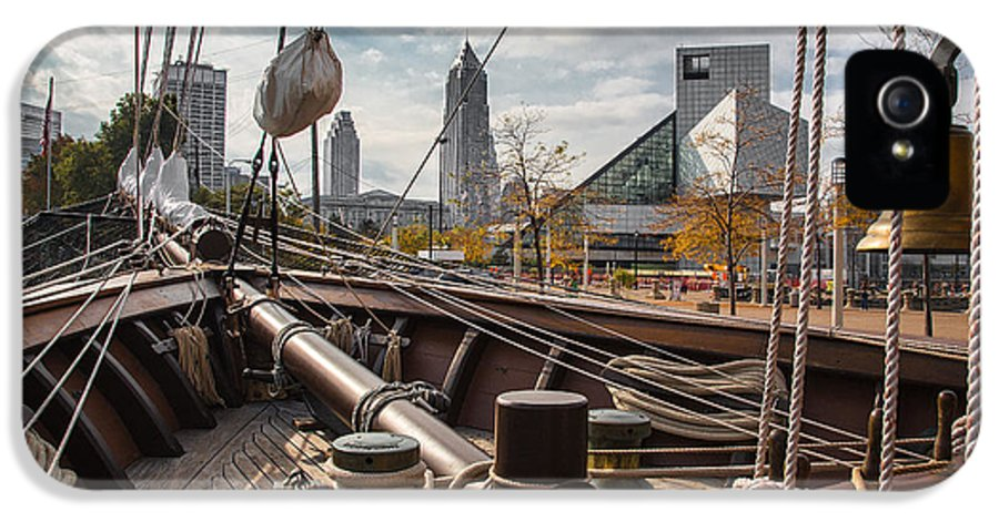 Cleveland Ohio IPhone 5 / 5s Case featuring the photograph Cleveland From The Deck Of The Peacemaker by Dale Kincaid