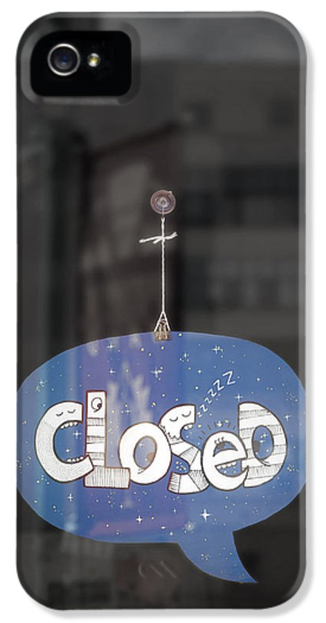 Closed IPhone 5 / 5s Case featuring the photograph Closed Sleep Tight by Scott Norris