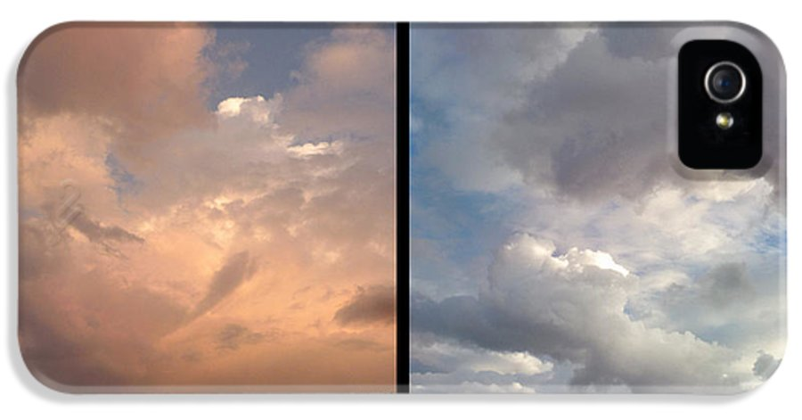 Clouds IPhone 5 / 5s Case featuring the photograph Cloud Diptych by James W Johnson