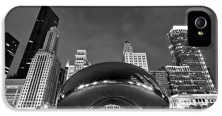 3scape Photos IPhone 5 / 5s Case featuring the photograph Cloud Gate And Skyline by Adam Romanowicz