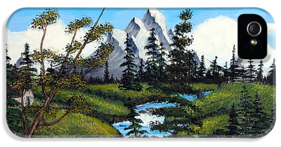Barbara Griffin IPhone 5 / 5s Case featuring the painting Cold Rattling Brook by Barbara Griffin