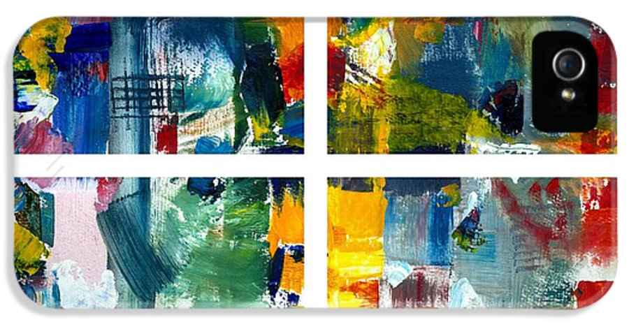 Abstract Collage IPhone 5 / 5s Case featuring the painting Color Relationships Collage by Michelle Calkins