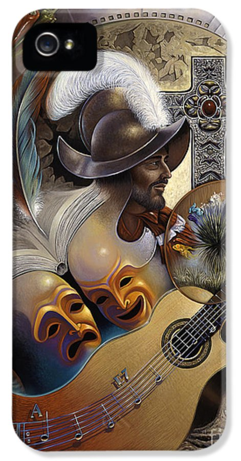 Culture IPhone 5 / 5s Case featuring the painting Color Y Cultura by Ricardo Chavez-Mendez