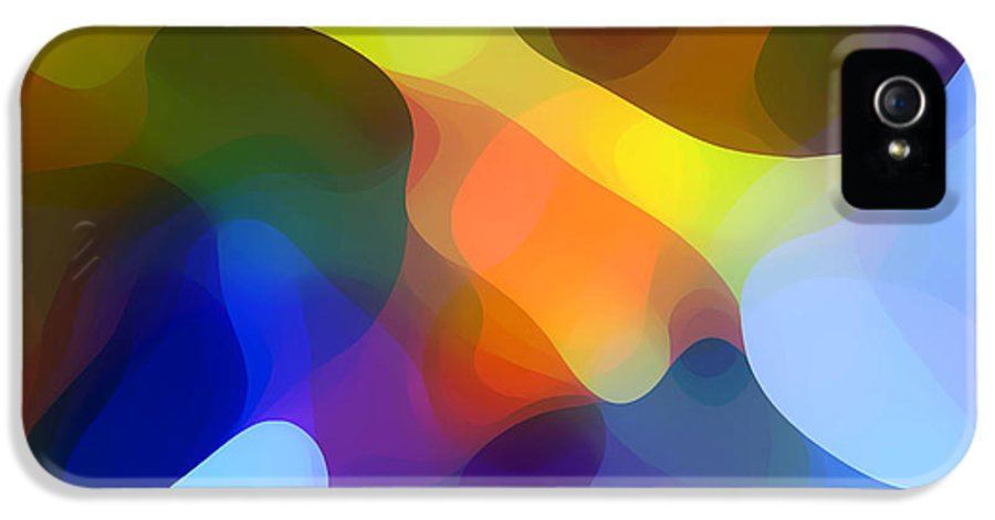 Bold IPhone 5 / 5s Case featuring the painting Cool Dappled Light by Amy Vangsgard