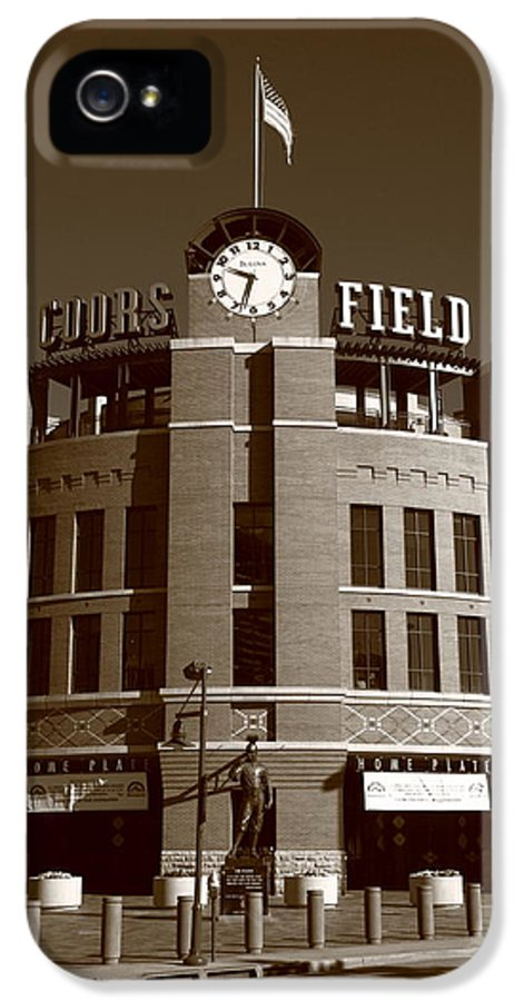 America IPhone 5 / 5s Case featuring the photograph Coors Field - Colorado Rockies 20 by Frank Romeo