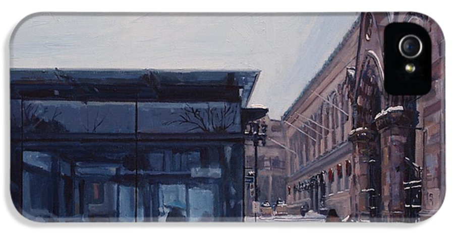 Boston IPhone 5 / 5s Case featuring the painting Copley Winter by Deb Putnam