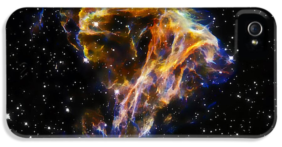 Nebula IPhone 5 / 5s Case featuring the photograph Cosmic Heart by The Vault - Jennifer Rondinelli Reilly