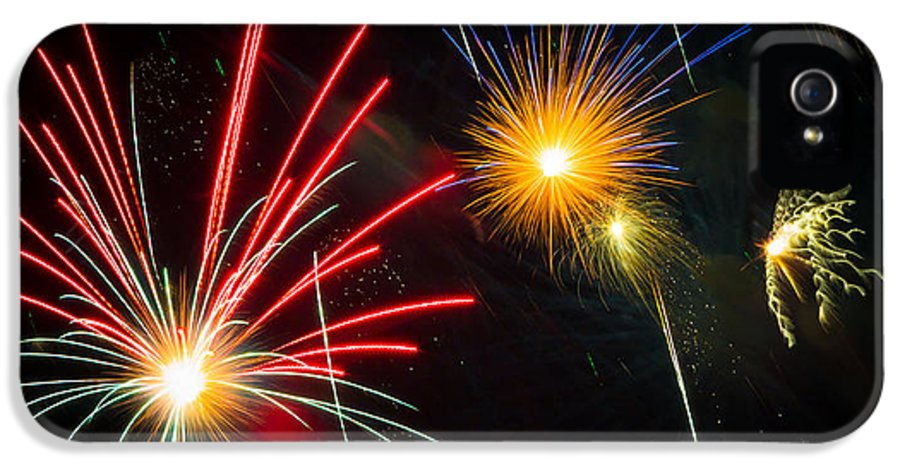 Addison IPhone 5 / 5s Case featuring the photograph Cosmos Fireworks by Inge Johnsson