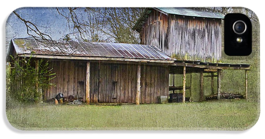Wooden Barn IPhone 5 / 5s Case featuring the photograph Country Life by Betty LaRue