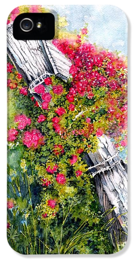 Roses IPhone 5 / 5s Case featuring the painting Country Rose by Janine Riley