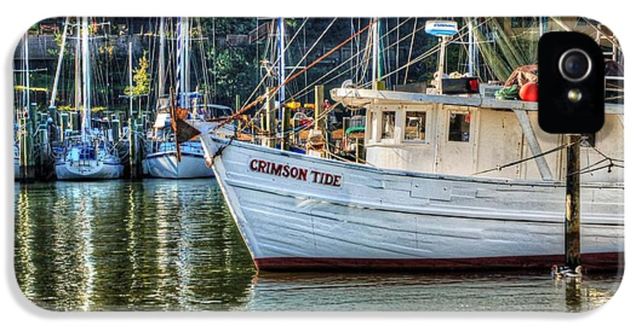 Water IPhone 5 / 5s Case featuring the photograph Crimson Tide In The Sunshine by Michael Thomas