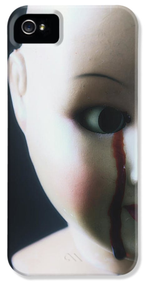 Doll IPhone 5 / 5s Case featuring the photograph Crying Blood by Joana Kruse