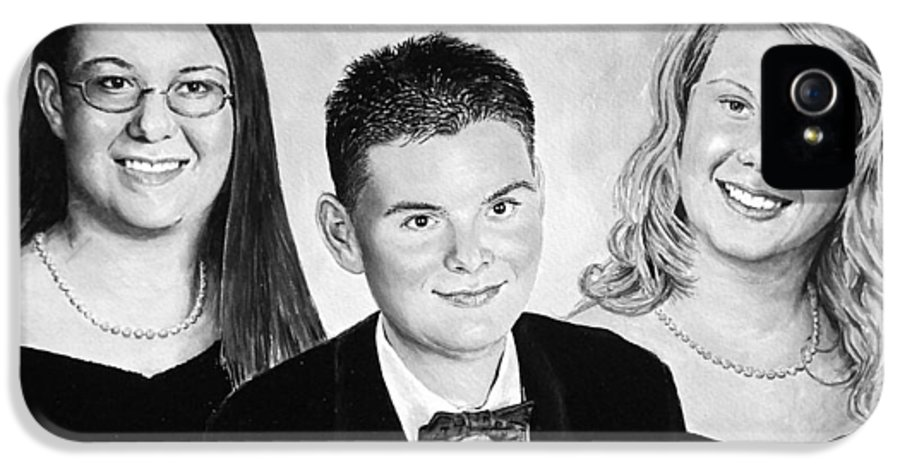 Family Portrait IPhone 5 / 5s Case featuring the painting Dana And Curtis And Viktoria by Andrew Read