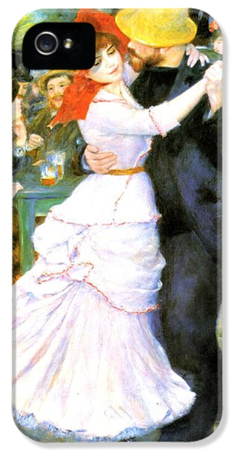 Pierre-auguste Renoir IPhone 5 / 5s Case featuring the digital art Dance At Bougival by Pierre Auguste Renoir
