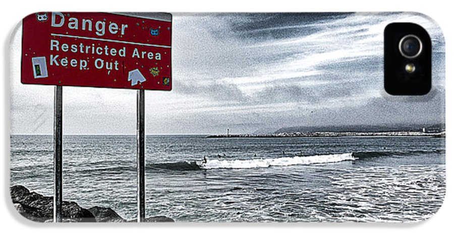 Danger Restricted Area Keep Out IPhone 5 / 5s Case featuring the photograph Danger Restricted Area Keep Out by Ron Regalado
