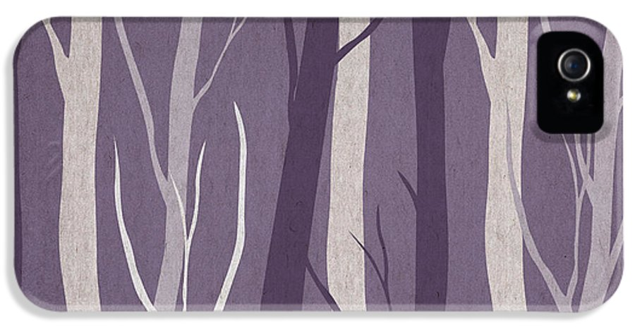 Contemporary Art IPhone 5 / 5s Case featuring the drawing Dark Forest by Aged Pixel