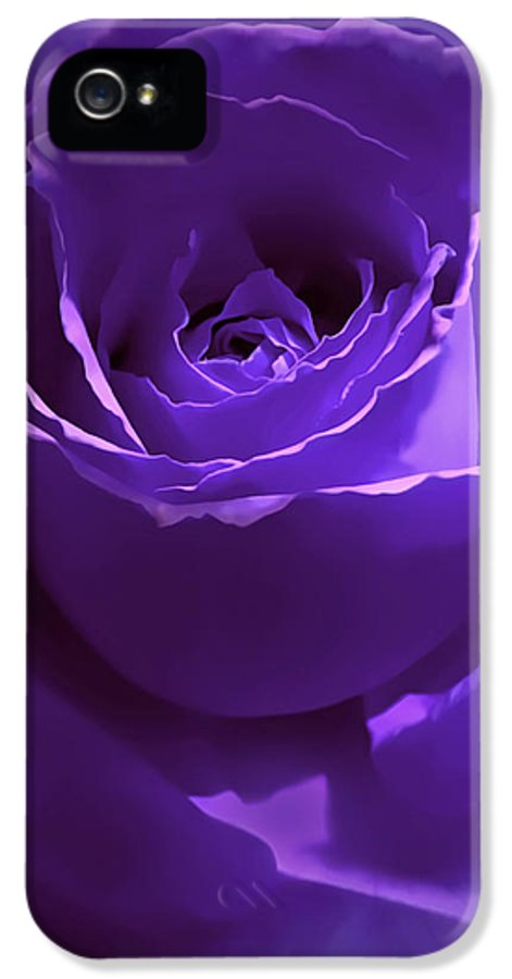 Rose IPhone 5 / 5s Case featuring the photograph Dark Secrets Purple Rose by Jennie Marie Schell
