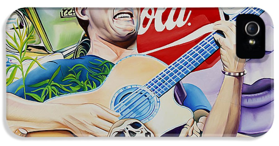 Dave Matthews IPhone 5 / 5s Case featuring the painting Dave Matthews Seek Up by Joshua Morton