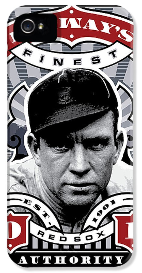 Ted Williams IPhone 5 / 5s Case featuring the digital art Dcla Tris Speaker Fenway's Finest Stamp Art by David Cook Los Angeles