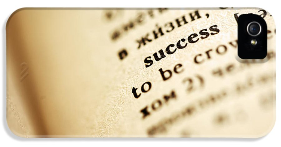 Success IPhone 5 / 5s Case featuring the photograph Definition Of Success by Konstantin Sutyagin