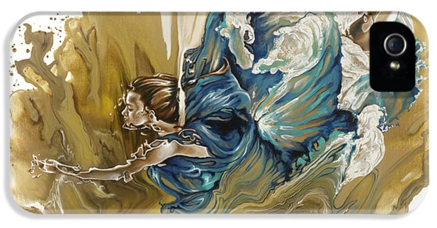 Deliver IPhone 5 / 5s Case featuring the painting Deliver by Karina Llergo