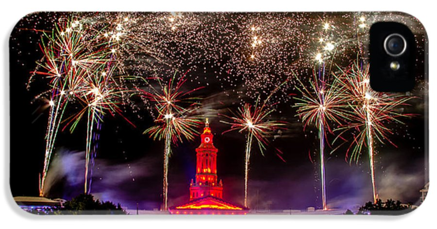 4th IPhone 5 / 5s Case featuring the photograph Denver Co 4th Of July Fireworks by Teri Virbickis