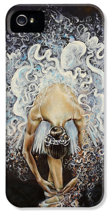 Dance IPhone 5 / 5s Case featuring the painting Devotion by Karina Llergo