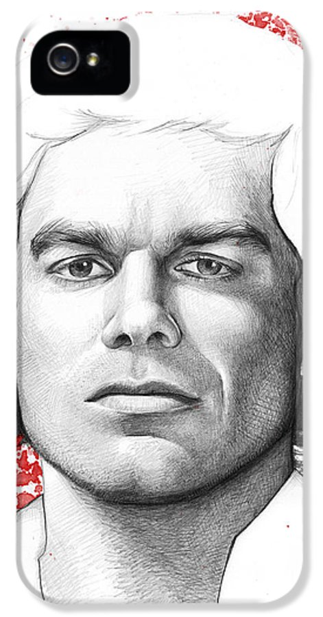 Dexter IPhone 5 / 5s Case featuring the drawing Dexter Morgan by Olga Shvartsur