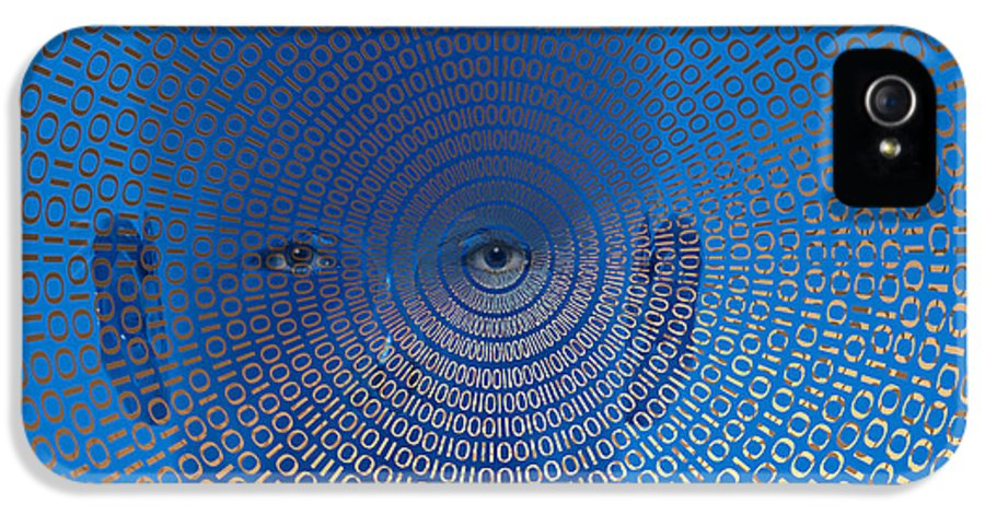 Binary Code IPhone 5 / 5s Case featuring the digital art Digital Vision by Carol and Mike Werner