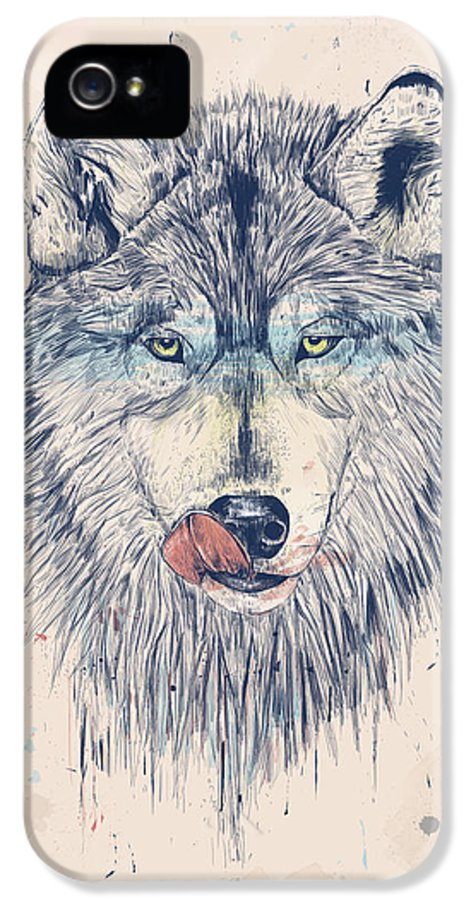 Animal IPhone 5 / 5s Case featuring the drawing Dinner Time by Balazs Solti