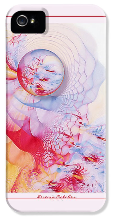 Fractal IPhone 5 / 5s Case featuring the digital art Dream Catcher by Gayle Odsather