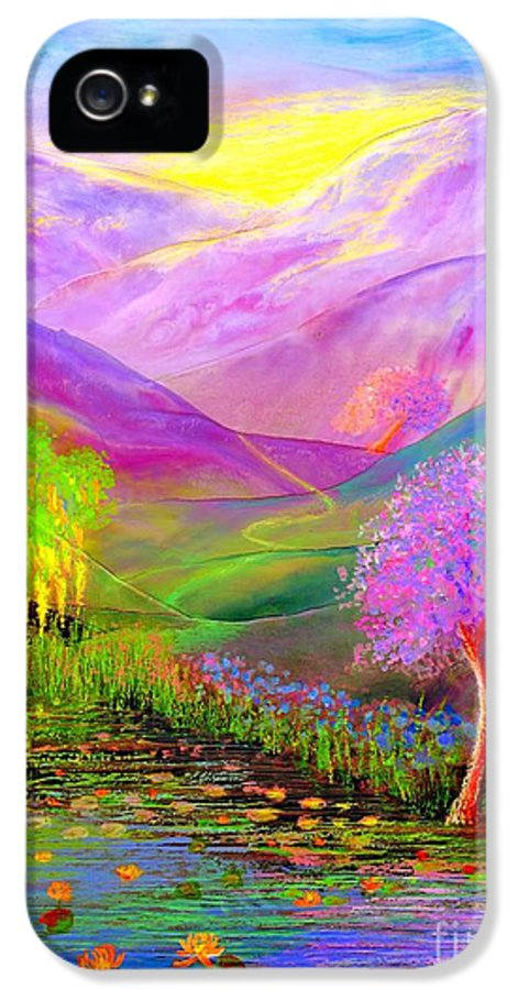 Lake IPhone 5 / 5s Case featuring the painting Dream Lake by Jane Small