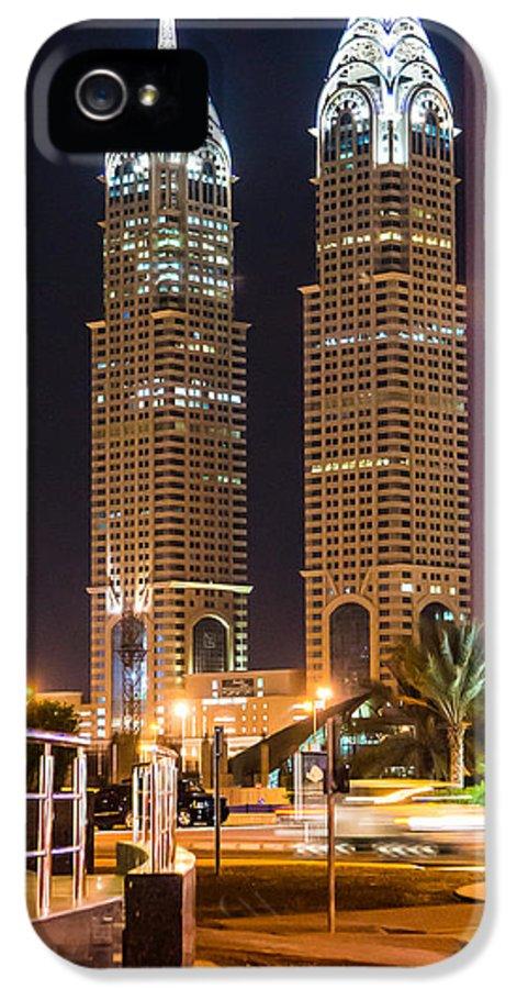 Dubai IPhone 5 / 5s Case featuring the photograph Dubai Business Towers by Zaharra Hemani