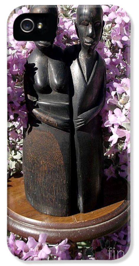 Ebony IPhone 5 / 5s Case featuring the sculpture Ebony Carving Circa 1890's by Anthony Morris