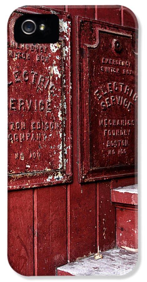 Electric Service In Boston IPhone 5 / 5s Case featuring the photograph Electric Service In Boston by John Rizzuto
