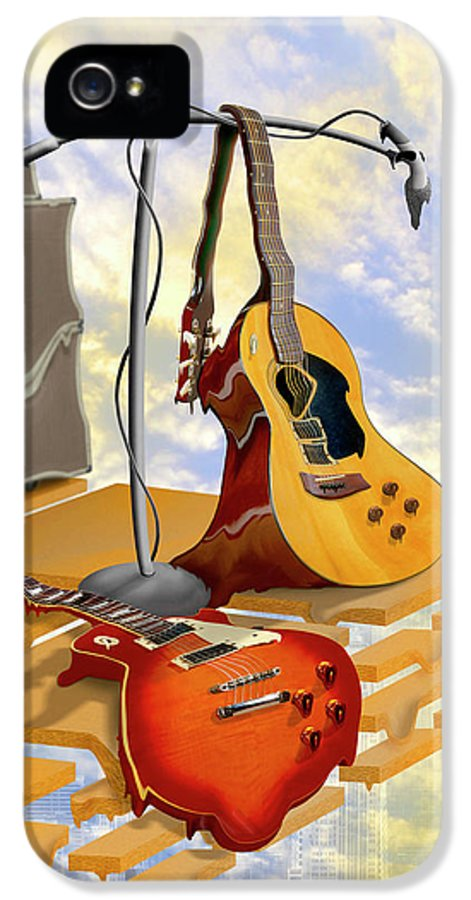 Rock And Roll IPhone 5 / 5s Case featuring the photograph Electrical Meltdown by Mike McGlothlen