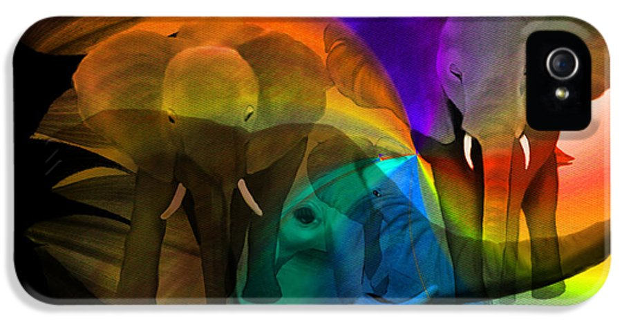 Africa IPhone 5 / 5s Case featuring the painting Elephant Walk by Sydne Archambault