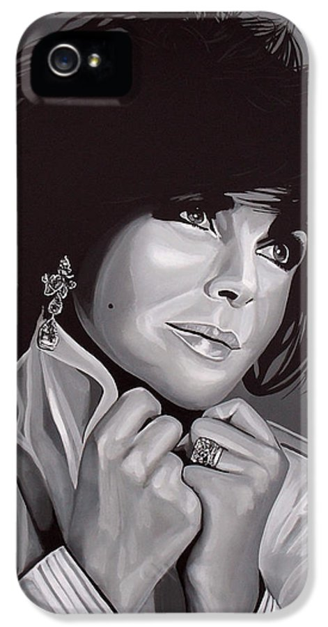 Elizabeth Taylor IPhone 5 / 5s Case featuring the painting Elizabeth Taylor by Paul Meijering