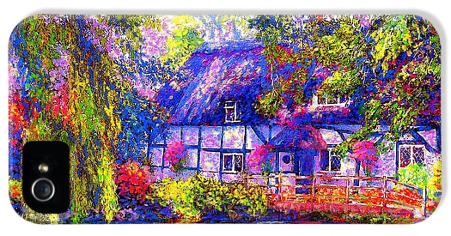 Cottage IPhone 5 / 5s Case featuring the painting English Cottage by Jane Small