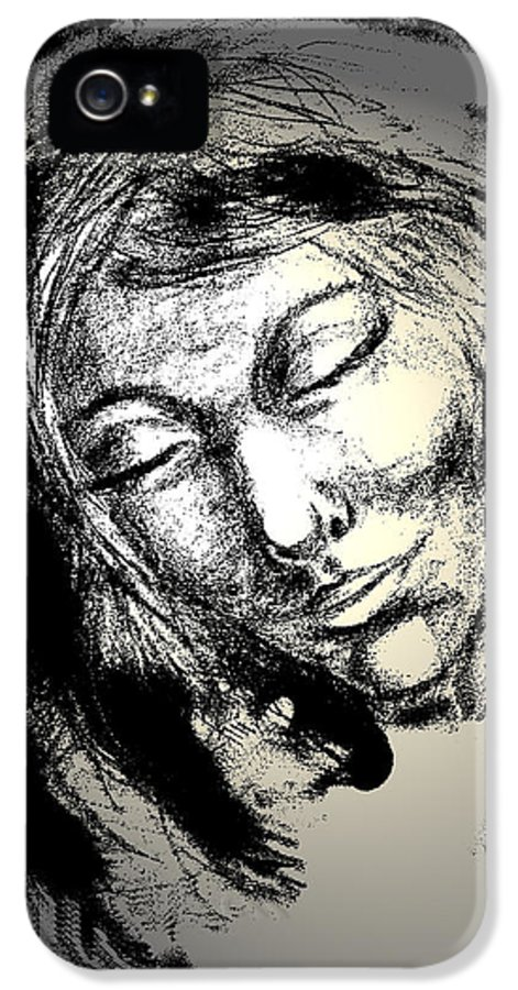 Woman IPhone 5 / 5s Case featuring the drawing Enlightenment by Natalie Holland