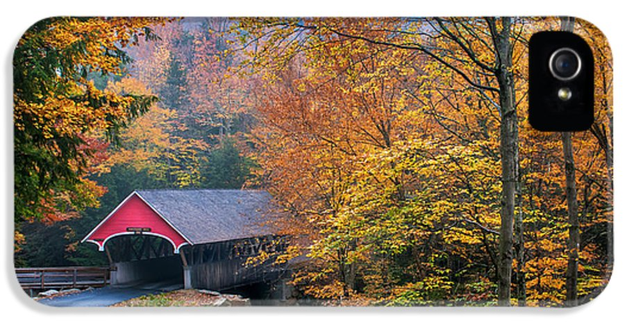 Covered Bridge IPhone 5 / 5s Case featuring the photograph Essence Of New England - New Hampshire Autumn Classic by Thomas Schoeller
