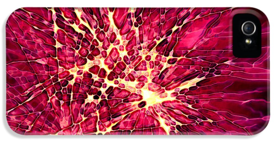 Fire Works IPhone 5 / 5s Case featuring the digital art Explosion by Stephanie Hollingsworth