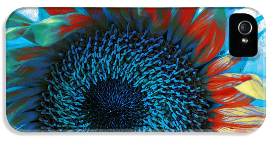 Sunflower IPhone 5 / 5s Case featuring the photograph Eye Of The Sunflower by Music of the Heart