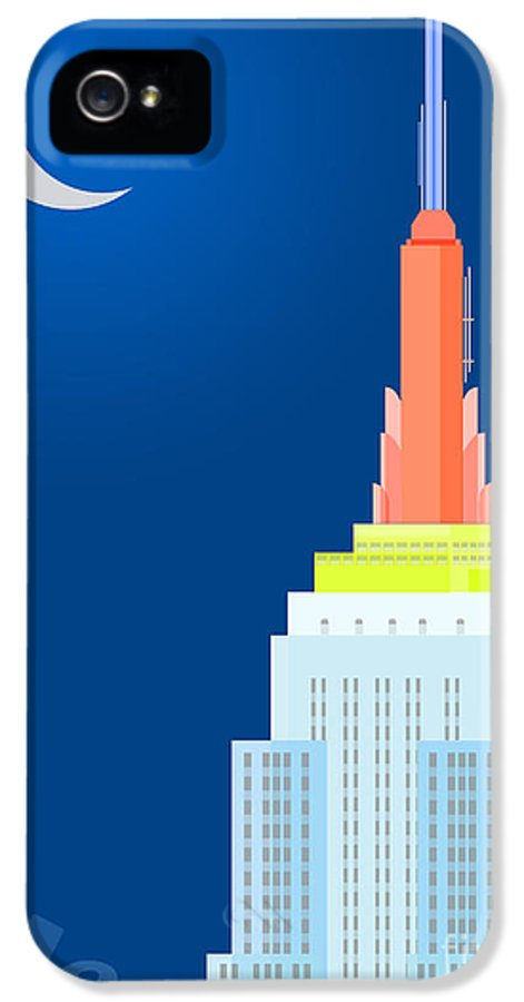 Empire State Building Vector IPhone 5 / 5s Case featuring the digital art Fables And Fairy Tales by Nishanth Gopinathan