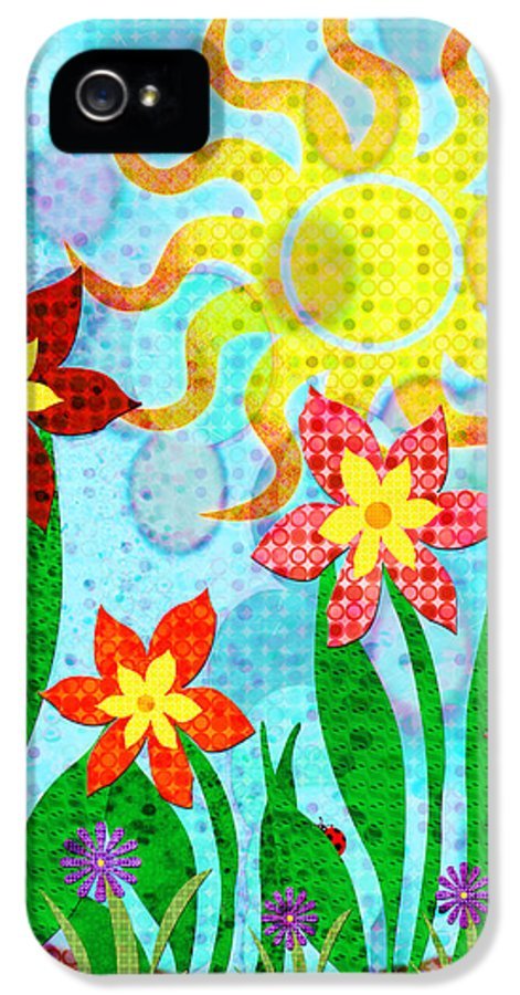 Flower IPhone 5 / 5s Case featuring the digital art Fanciful Flowers by Shawna Rowe