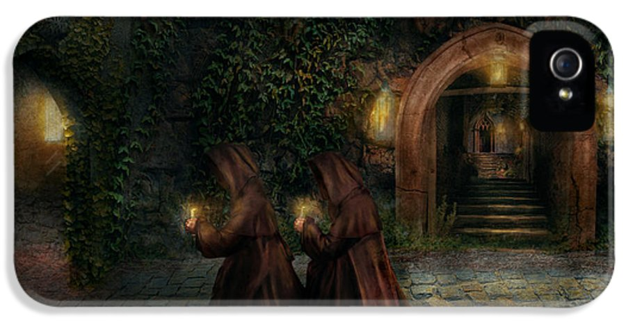 Witch IPhone 5 / 5s Case featuring the photograph Fantasy - Into The Night by Mike Savad